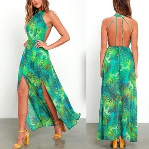Lulus Tropic of Discussion Tropical Print Maxi